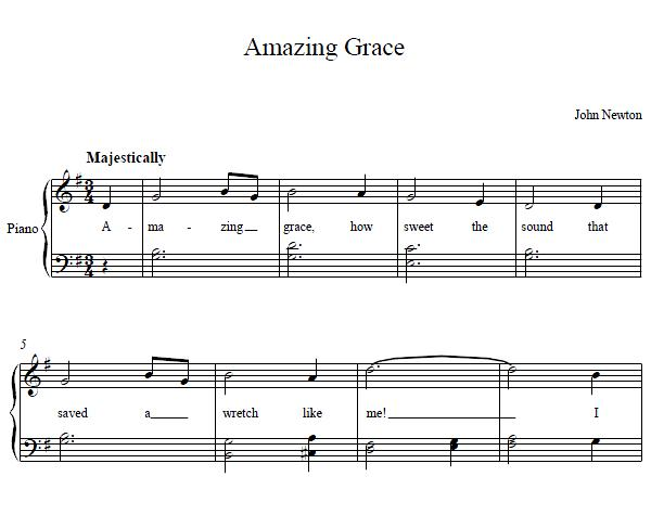 Amazing grace sheet music amazing grace