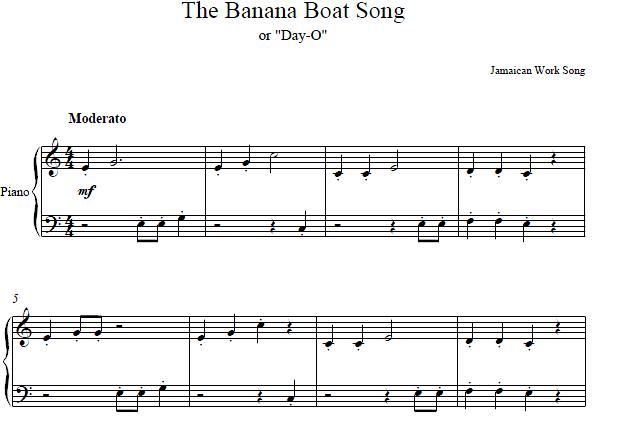 Banana Boat Song Piano