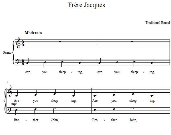 Jacques Piano Sheet Music