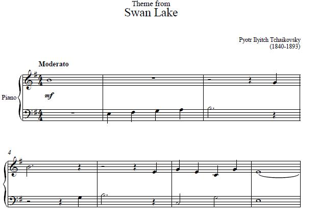 Swan Lake Sheet Music
