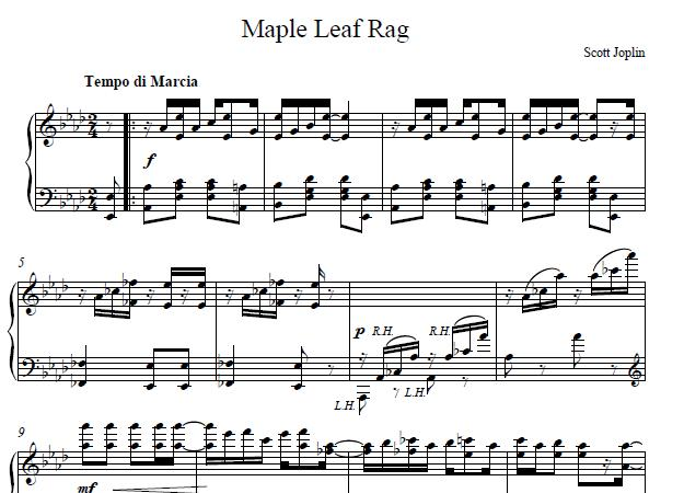 maple leaf rag sheet music easy - Anta.expocoaching.co