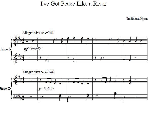 I've Got Peace Like A River Duet