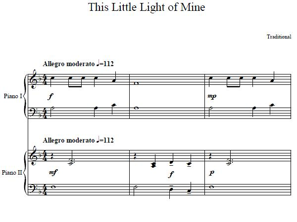 This Little Light Of Mine Duet