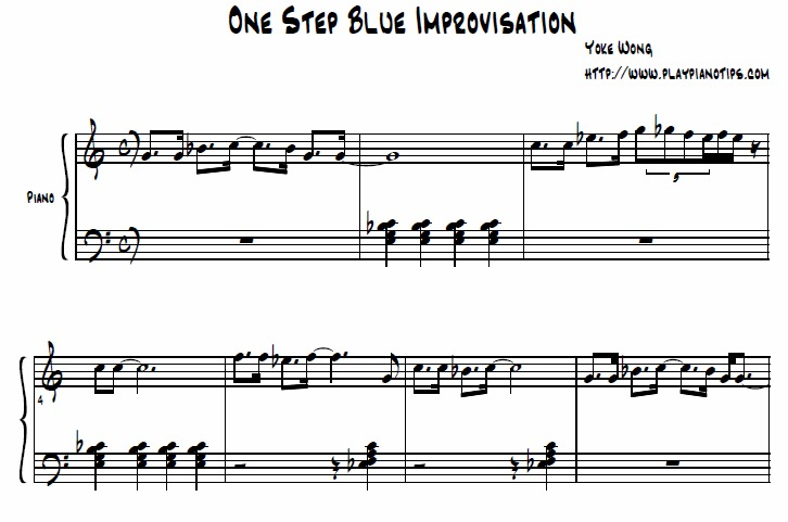 One Step Blues Improv