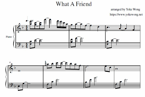 What A Friend We Have In Jesus Piano Sheet Music