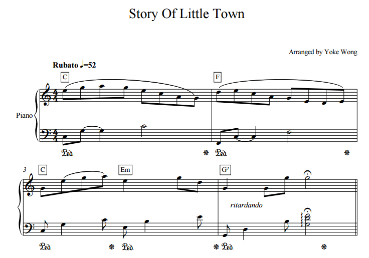 the story of little town sheet music