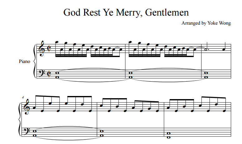 God Rest Ye Merry Gentlemen sheet music