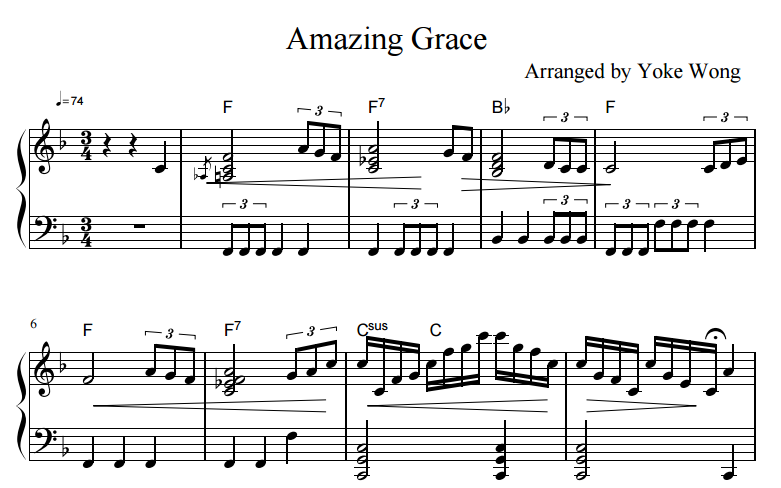 photo about Free Printable Piano Sheet Music for Amazing Grace called Remarkable Grace