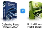 121 Left Hand Styles & Definitive Piano Improv Bundle (Downloadable)