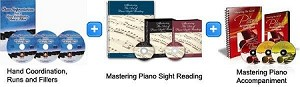 Hand Coordination & Sight Reading & Piano Accompaniment Bundle