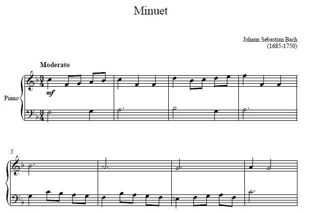 Minuet By Bach
