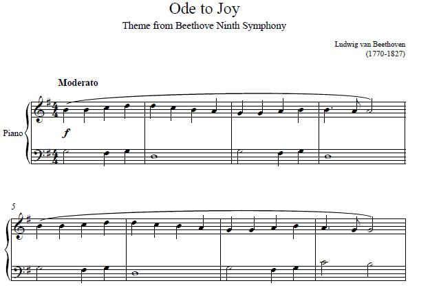 Ode To Joy Piano
