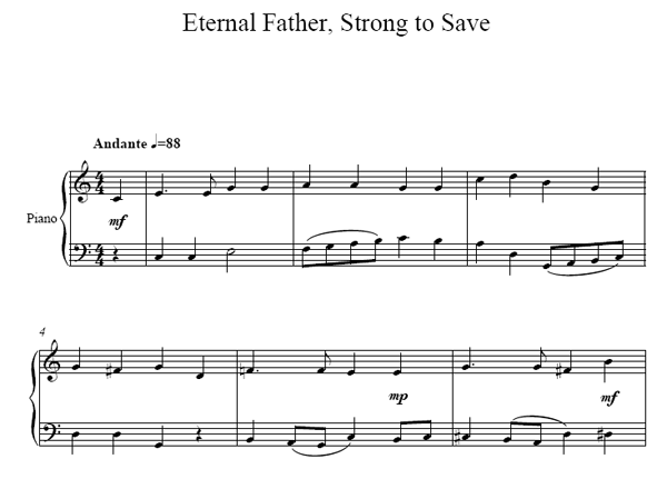 Eternal Father Piano sheet music