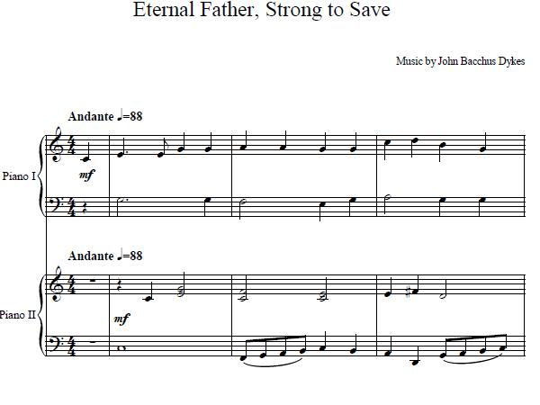 Eternal Father Strong To Save Duet
