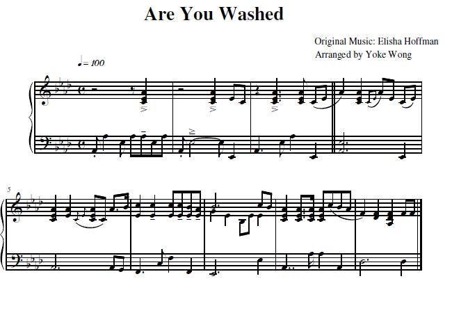 Are you washed sheet music