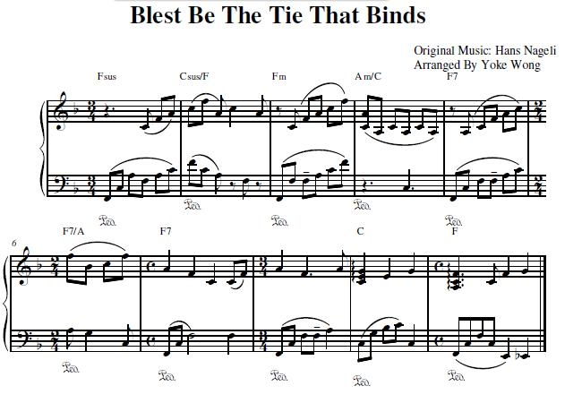 Blest Be The Tie That Binds Sheet Music