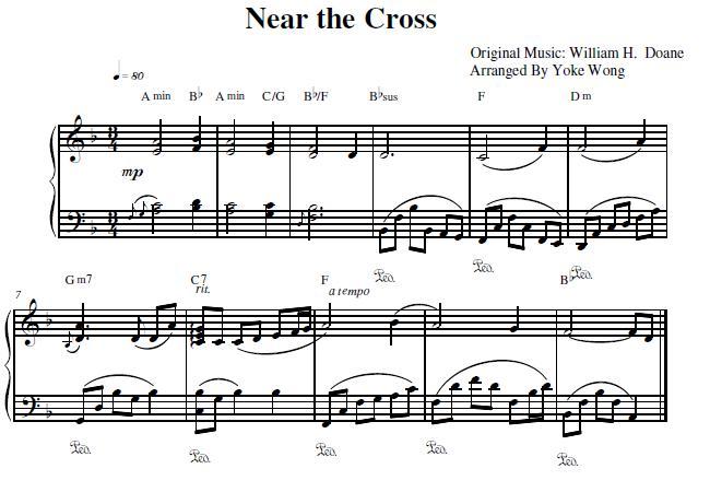 Near the Cross Piano Sheet Music - Piano Mother