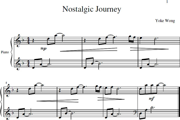 Nostalgic Journey Sheet Music