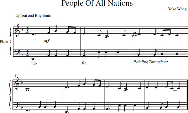 People Of All Nations Sheet Music