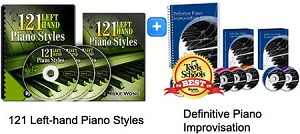 121 Left Hand Styles & Definitive Piano Improv Bundle