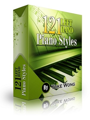 121 Left Hand Piano Styles (Downloadable Lessons) - 3 Monthly Payment Plan
